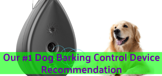 Top Dog Barking Control Device Recommendation